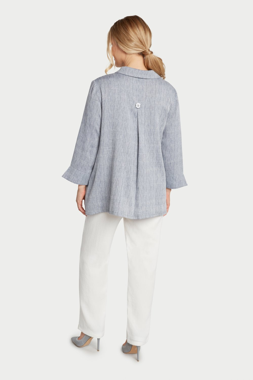 AA7132 - Susan's Jacket    Blue/White Stripes - ST02
