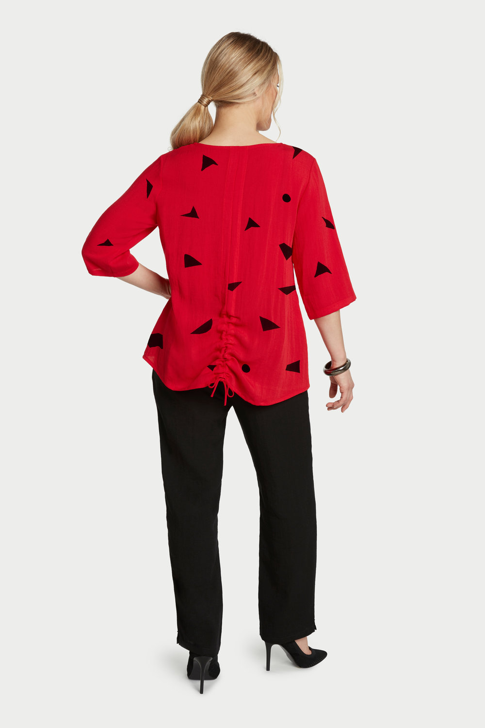 AA263 - Ruched-Back Pullover    Lipstick Shapes - CL2595S