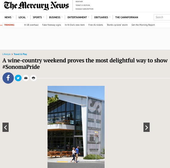 Healdsburg SHED.A wine-country weekend proves the most delightful way to show #SonomaPride. - San Jose Mercury News