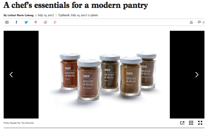 Healdsburg SHED. A chef's essentials for a modern pantry. - San Francisco Chronicle