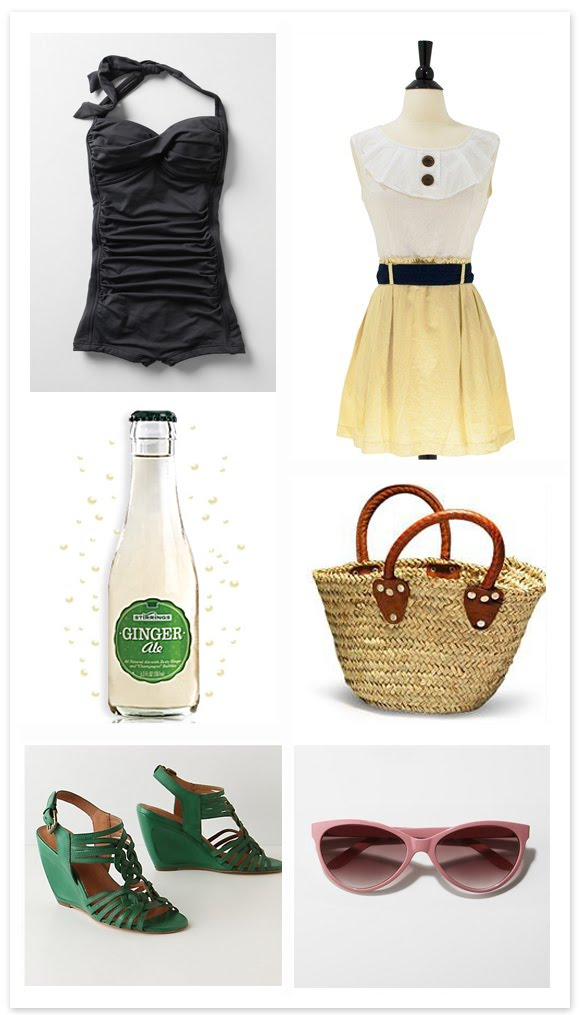 Shoes, bathing suit:   anthropologie //  Dress:   Scarfu //  Sunnies:   Urban Outfitters //   Stirrings Sodas
