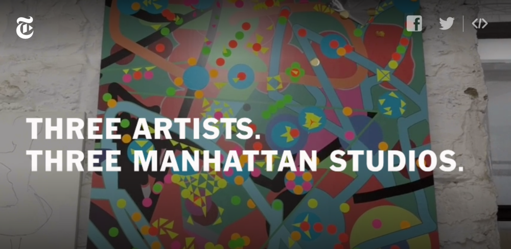New York Times: Three Artists. Three Manhattan Studios.