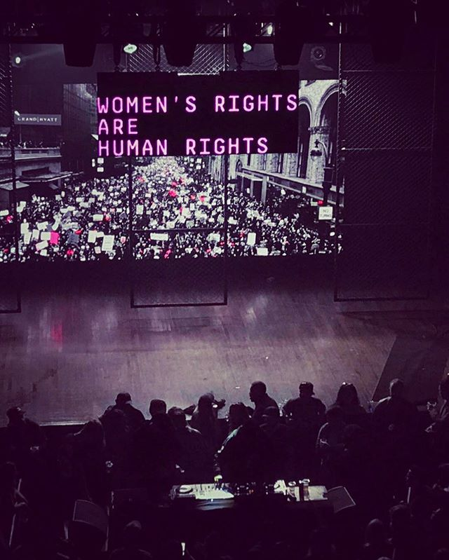 #womensrightsarehumanrights #womensmarchnyc #sickvisuals #websterhall