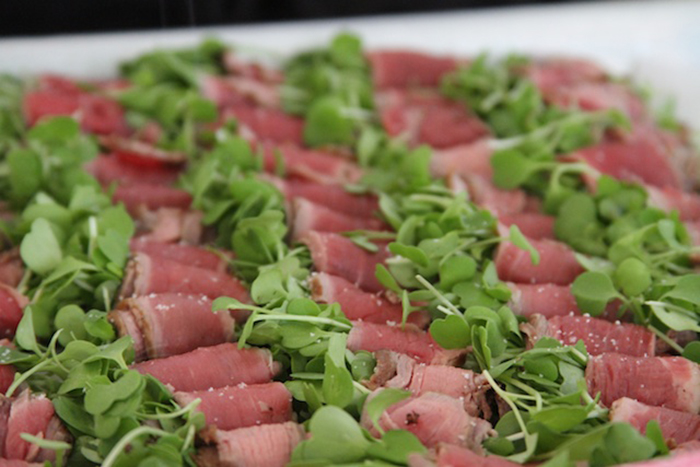 Beef Carpaccio and Baby Arugula