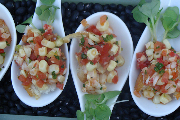 Lobster and Corn Bruschetta