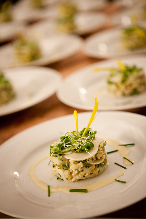 Crab Meat Salad with Hearts of Palm and Lemon Chive Dressing