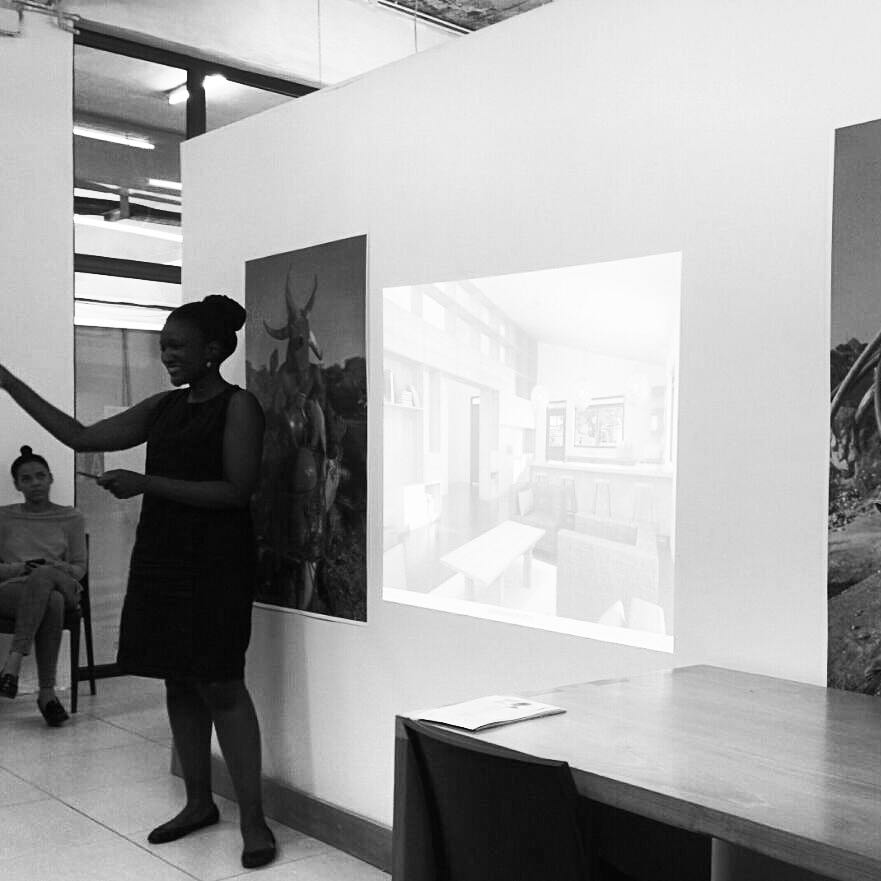 "Doreen Adengo  making a presentation on ""The Role of The Architect""."