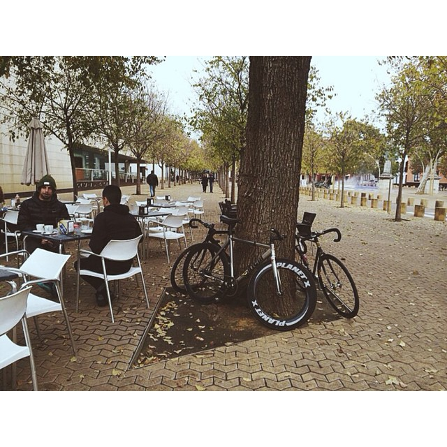 #madcityrides #weridemadrid #wearemadrid #weridesevilla  #tgb #thegoodburger #sevilla #fixedgearspain #fixedgear #piñonfijo #planetx #goldsprints today in Sevilla at Virgen de Luján 47  See you there!