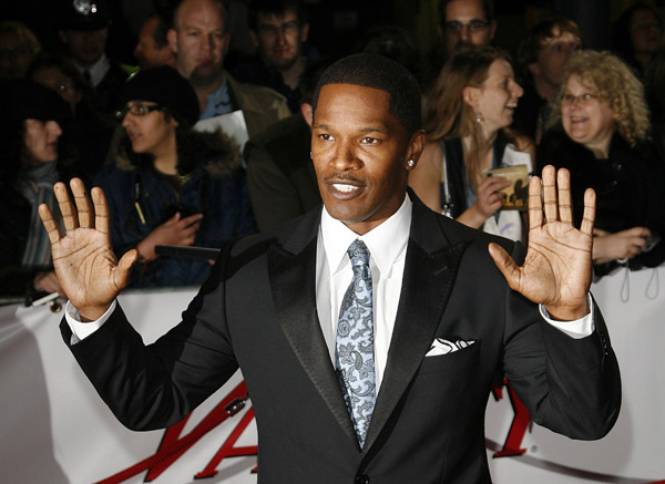 Jamie Foxx in London at a recent European premiere