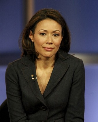 NBC's Ann Curry on set