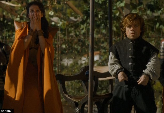 Sure, we may be mourning, but she just watched her lover's face then skull get pulverized and squashed, and Tyrion just watched his future flash before his eyes.