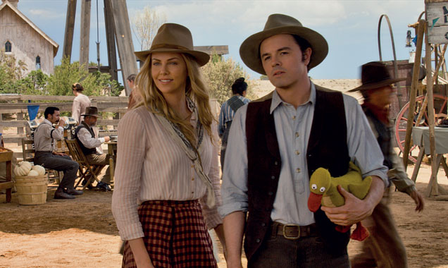 "Seth MacFarlane's ""Albert"" is a coward, and Cherlize Theron's ""Anna"" could kick his ass in a fist fight.  Yet, somehow, the film manages to make believable the ability for these two to fall for each other.  Getting to that point could have been a little funnier, though."
