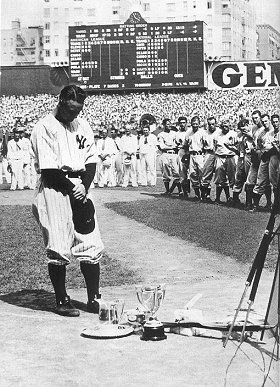 Lou Gehrig, the Luckiest Man on the Face of the Earth.