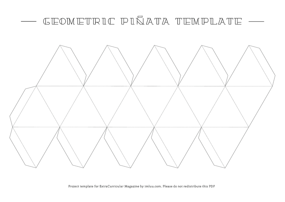 Printable piñata template for issue 15 tutorial (print A1 size)