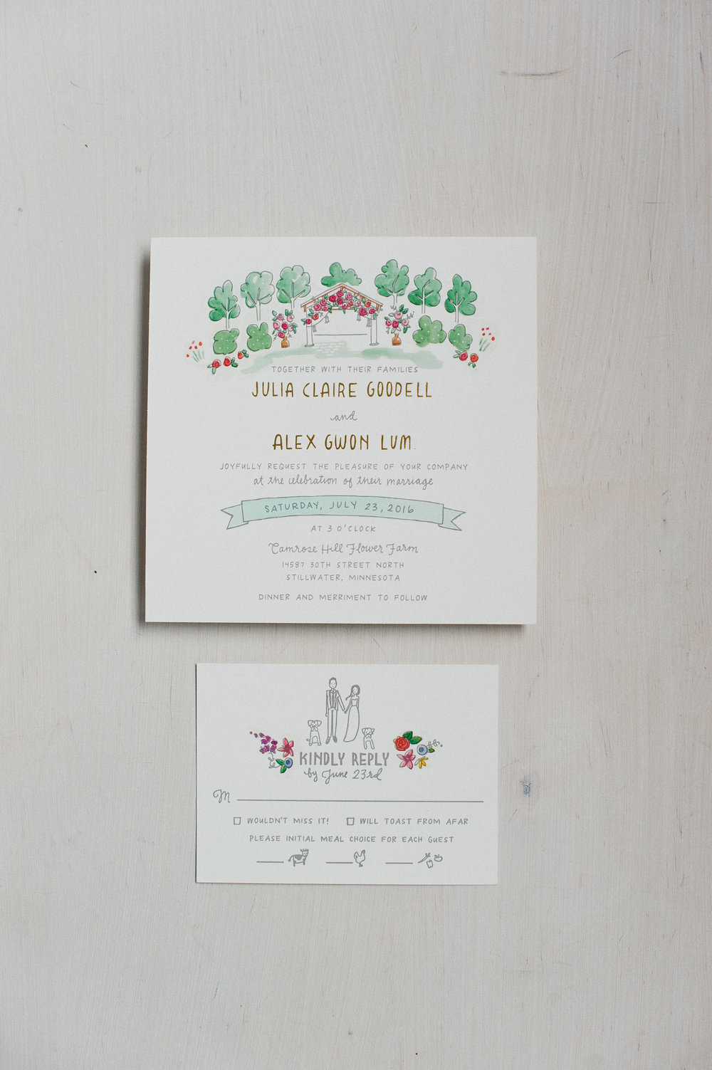 Printerette Press | Custom Letterpress Wedding Invitations | Minneapolis