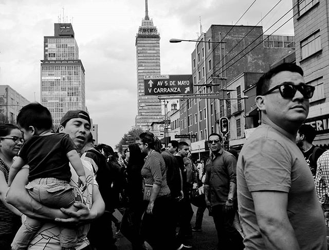 Quick street shot from the central historic district #CDMX 2019 #streetphotography #mexico #fujixf10 #fujifilm #blackandwhite