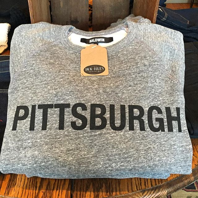 Your favorite Pittsburgh crew pullover is back in stock. Great gift idea for you procrastinators. #yourewelcome #pittsburgh #baldwin #repyourhood #holiday #gift #style