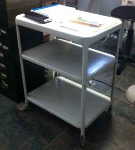 My cart cleaned up nice and now sits beside my painting desk in my studio.