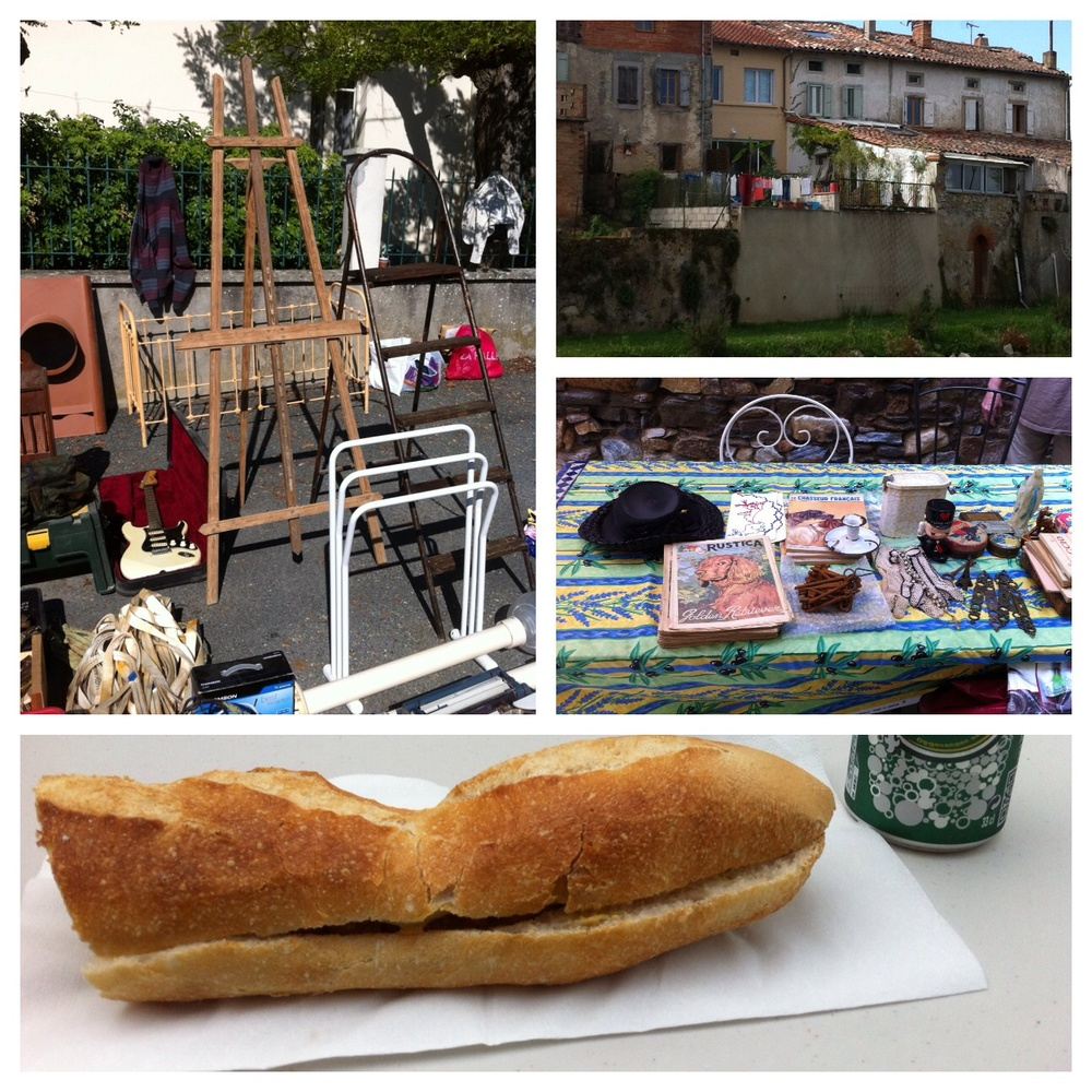 they serve the most delicious sausage sandwiches at the vide grenier.