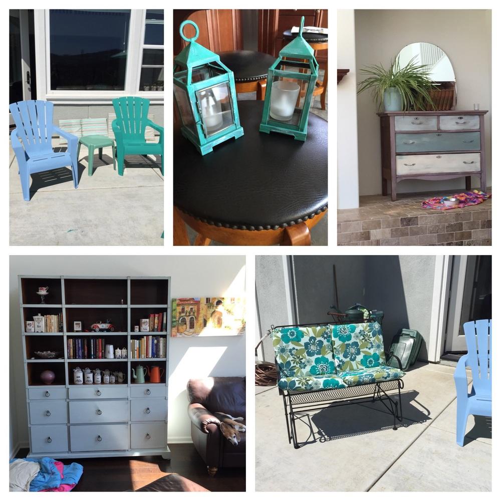 Repainted furniture