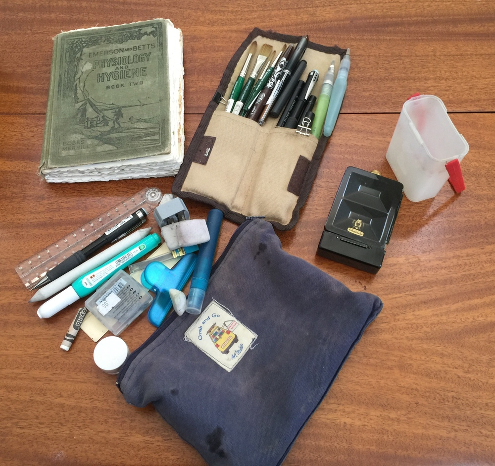 These are the supplies I carried with me daily in Italy