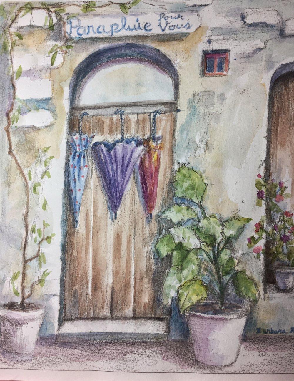 Three Umbrellas in Provence