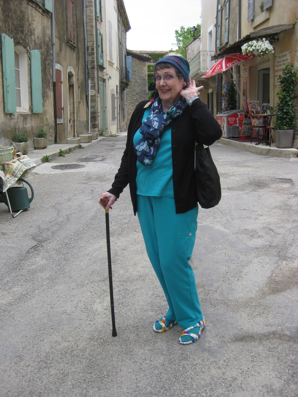 Ann Holland in Saignon, France