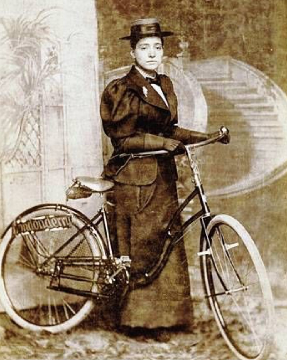 Annie Londonderry, a fellow female adventurer who rode her bicycle around the world.