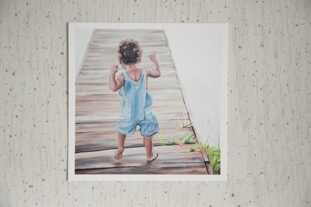 First Steps | Loose Artist Print | 5x5 Matte