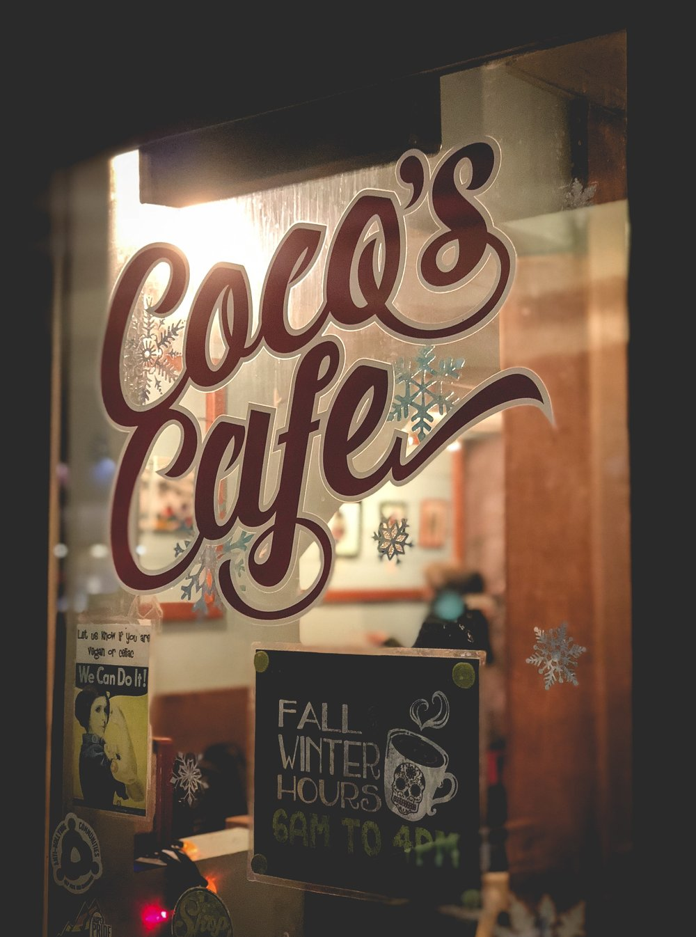 Coco's Cafe - A little spot that you'd probably walk by and totally miss out on. Our breakfast here was fantastic and we went back that same day for lunch and picked up some delicious wraps.  Definitely stop by for some eats here!