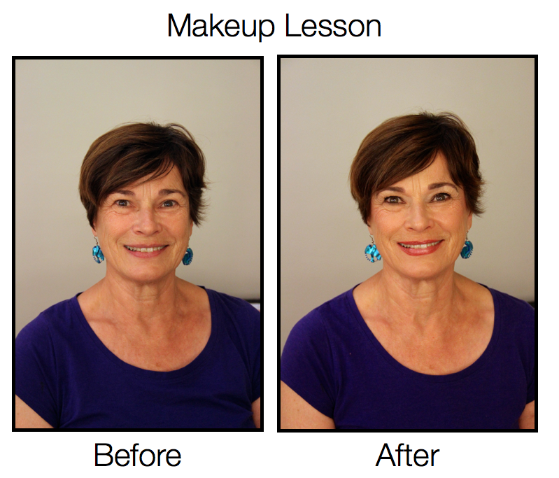 Penny was the winner of a Free Makeup Lesson with the Aging but Dangerous Radio Show in May 2014. Here are the results of our session!