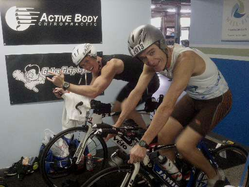 Coach K Crew (Iron Doc and G-Sizzle) en route to Ironman Florida 2012