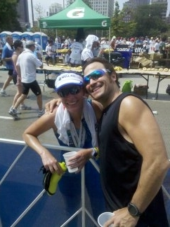Coach K and his speedy wife Deb:)