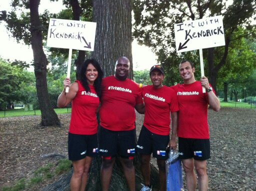 Coach K with Sanja Kupta, Kendrick Henley, and Marriane Sedor! The CNN Six Pack Challenge:)