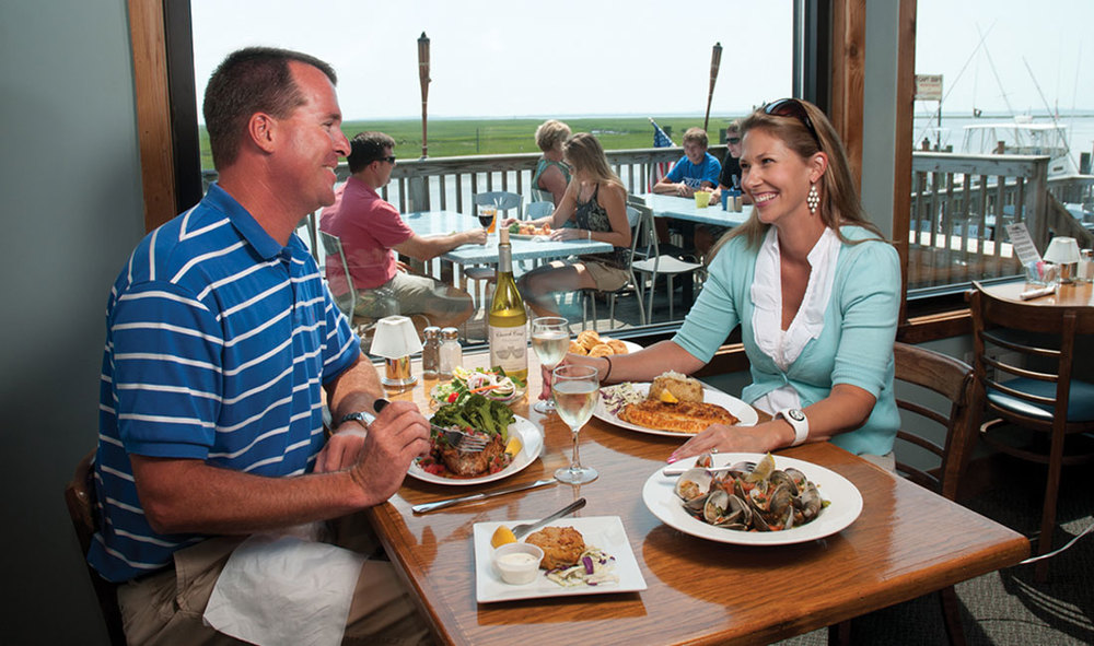 Enjoy a meal at the Island House Restaurant
