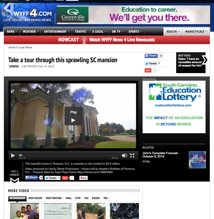 Hendy Street Real Estate Video Makes TV News Headlines