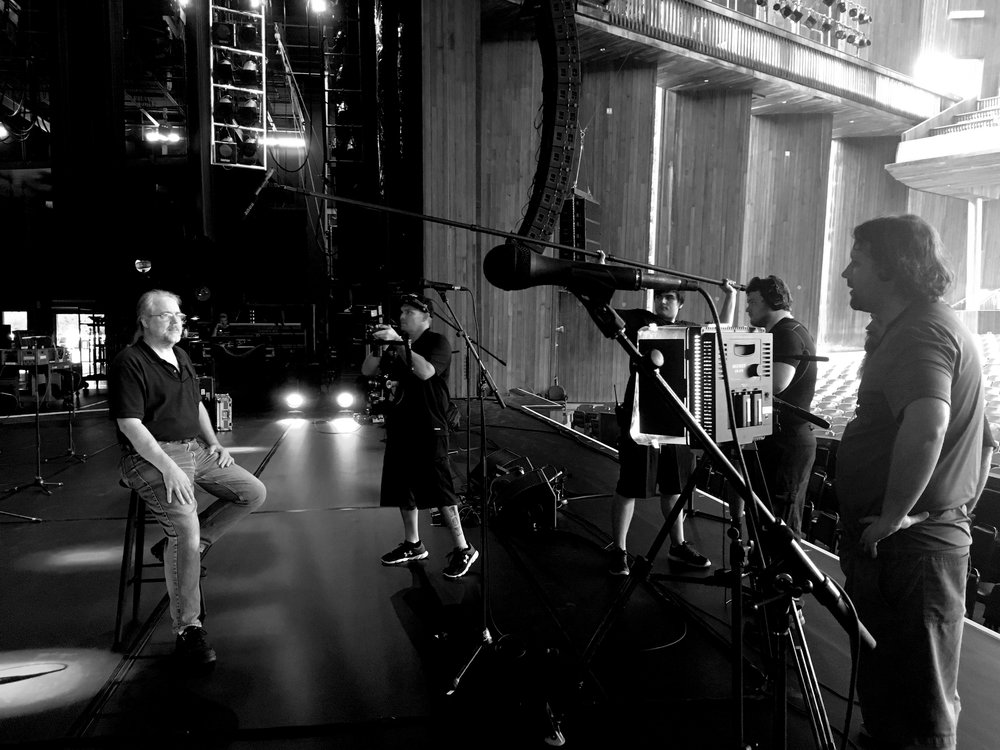 Tony Morin interviewing the legendary recording engineer Jim Fox for an upcoming SOJA documentary...