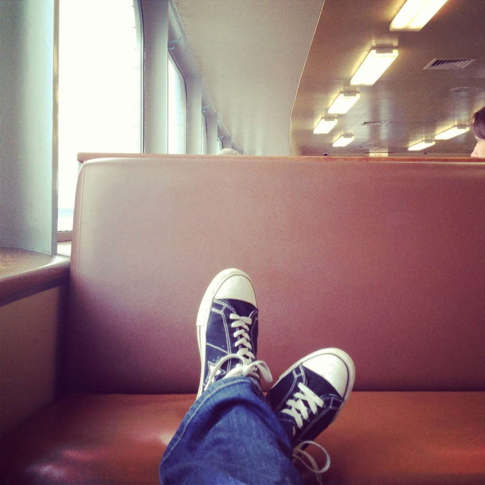 chillin' on ferry