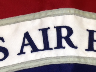 Close up of Appliqued flag