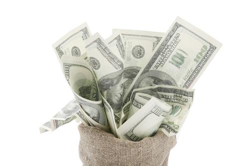 Money in bag