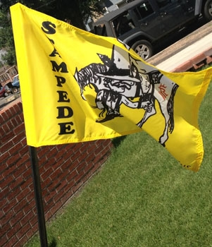 Rolling Hills Stamede Custom Golf Flag