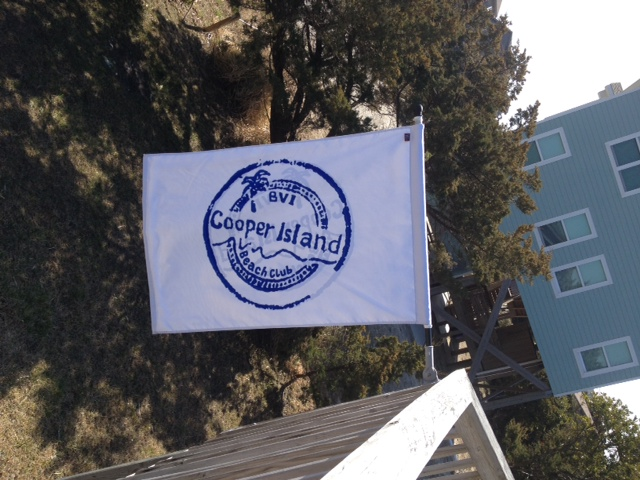 Cooper Island Flag at British Virgin Island