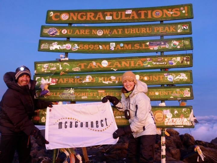 Custom Flag at Mount Kilimanjaro
