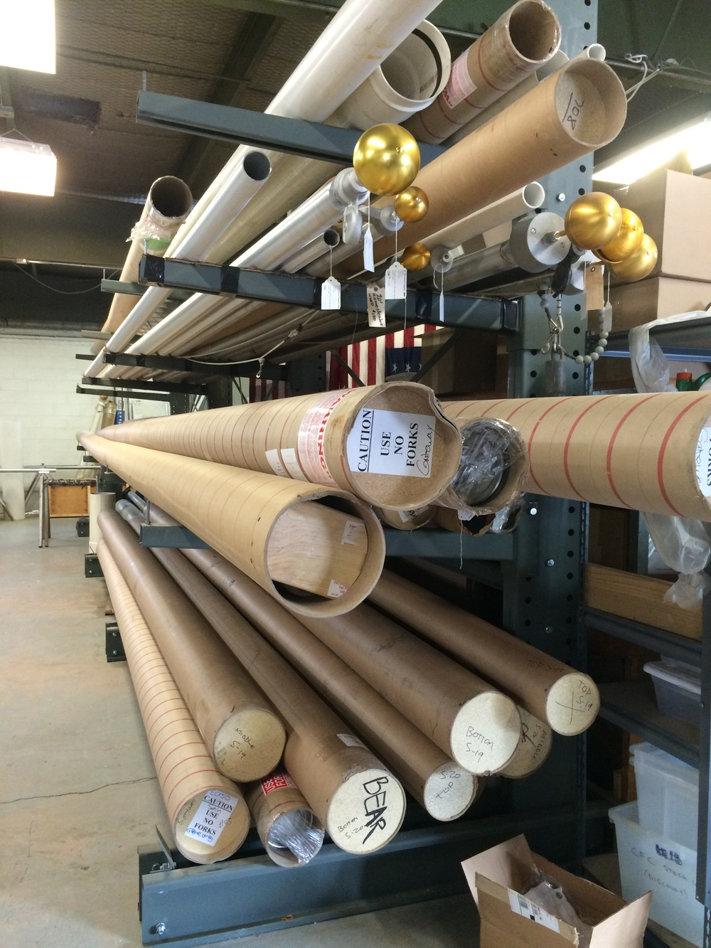 Flagpoles in Stock at Custom Flag Co.