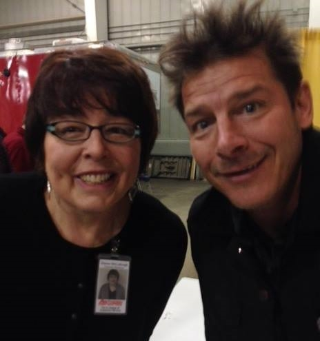 Donna with Ty Pennington, host of Extreme Makeover: Home Edition