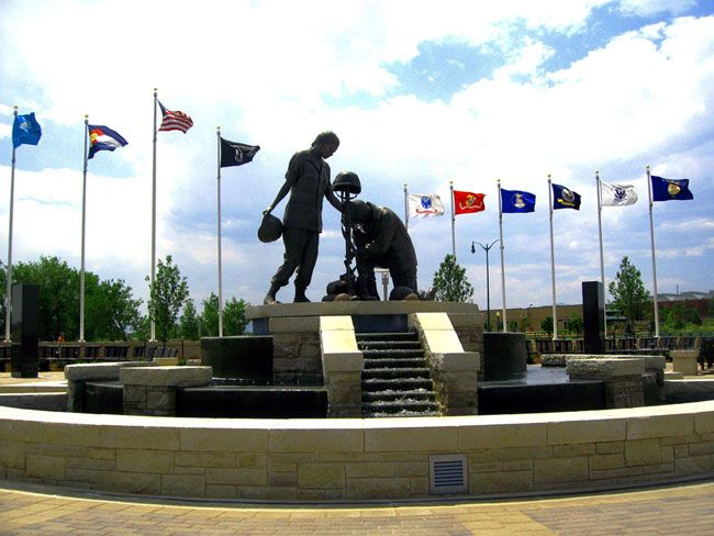 Armed Forces Tribute Garden at Westminster City Park. Westminster, Colorado