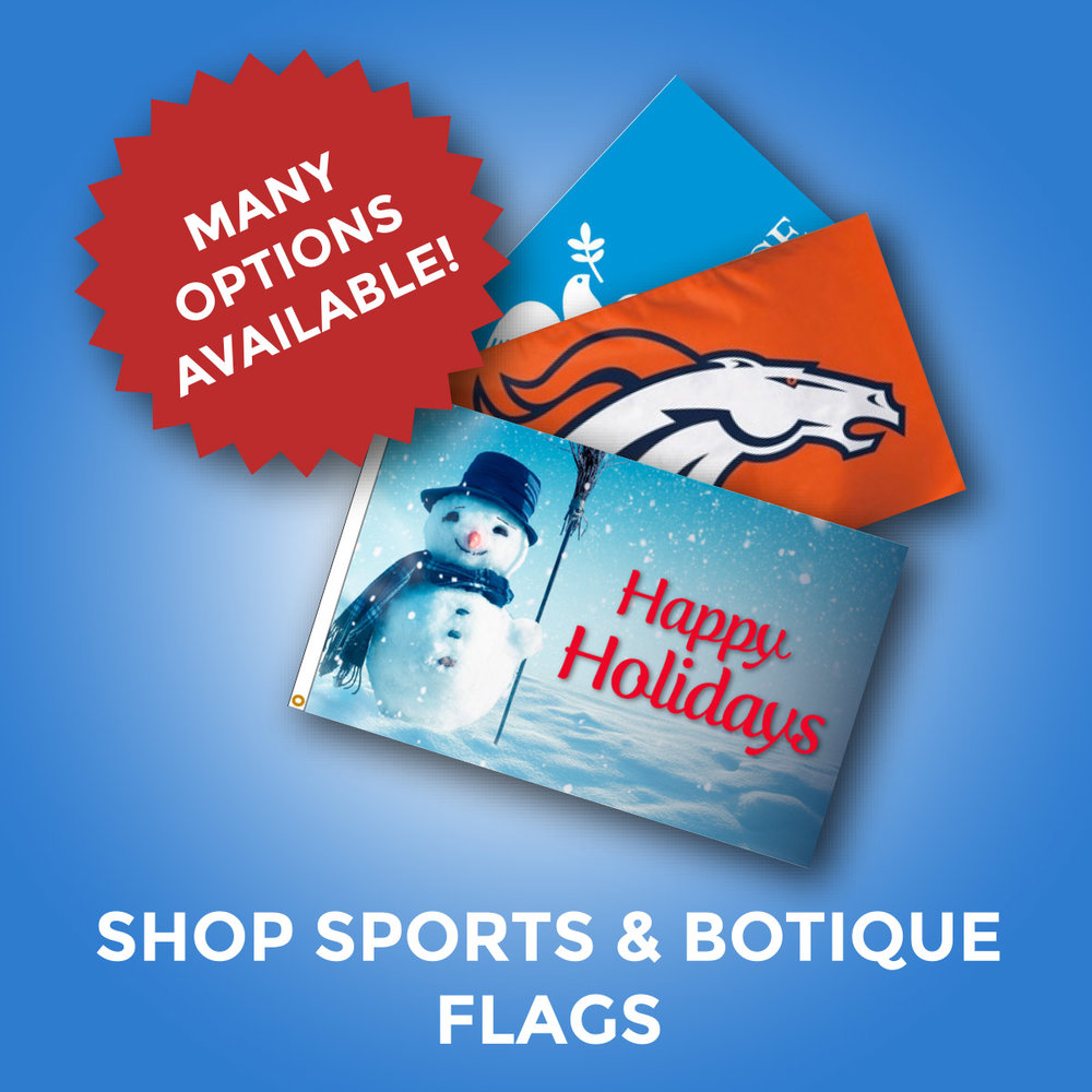 Customized Flags for Sports and Boutique