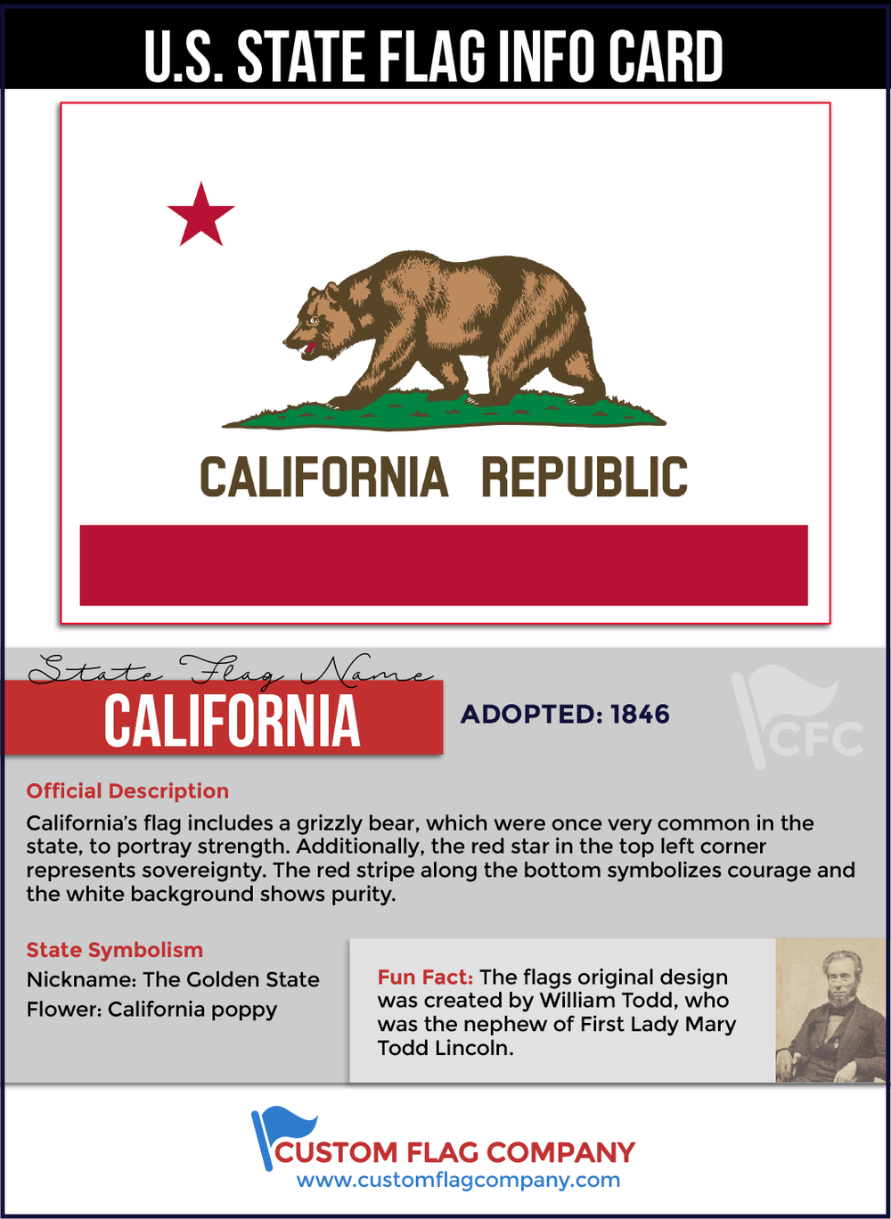 California State Flag Custom Company