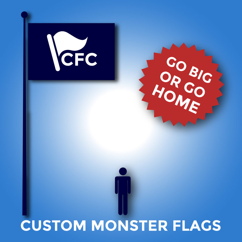 Monster LARGE Custom Flags