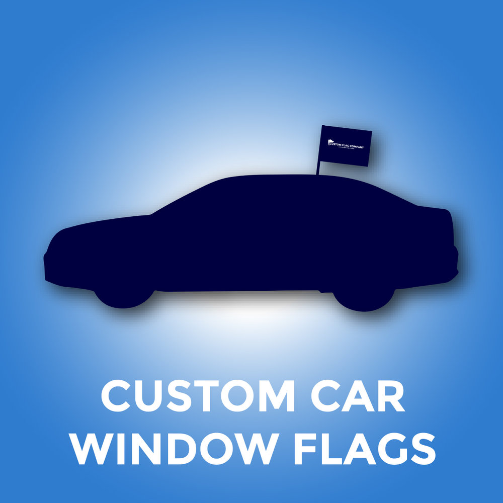 Custom Car Window Flags